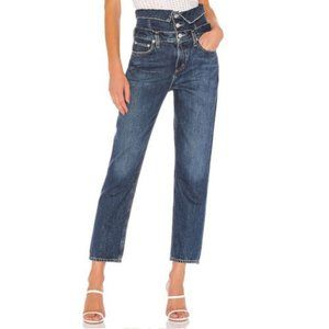 AGOLDE Vanna Corset Fold Over Straight Jeans NWOT